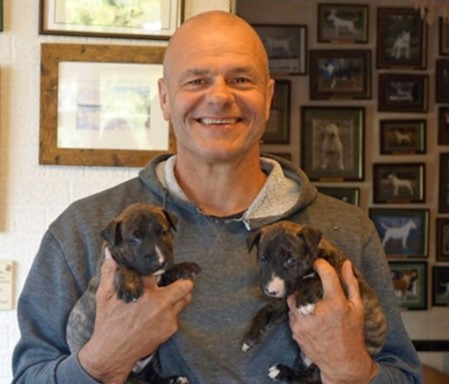 Russ with puppies